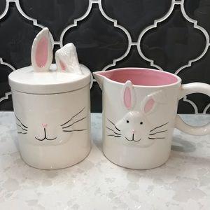 Magenta Bunny SUGAR & CREAMER